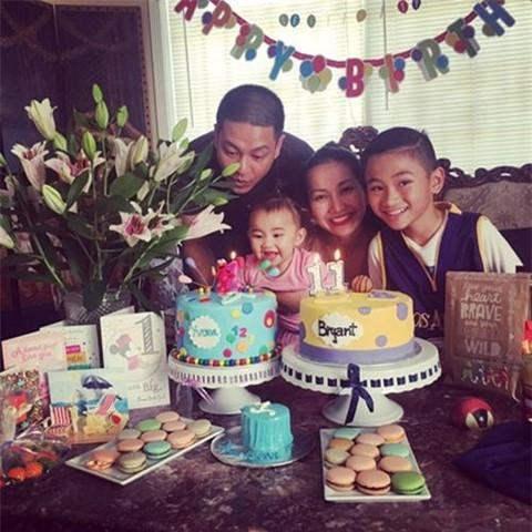 Sinh nhật ấp áp tại nhà của gia đình Kim Hiền