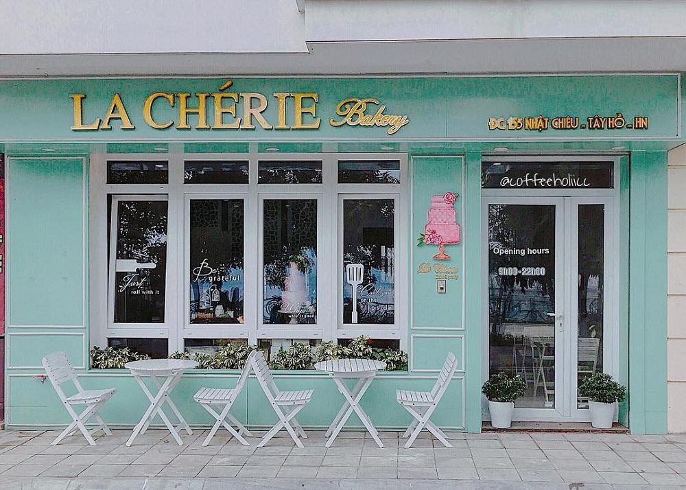 Các quán cafe đẹp ở Hà Nội để chụp ảnh La Chérie Bakery