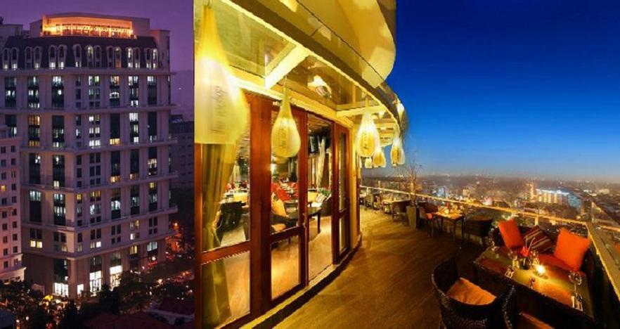 Quán cafe sang trọng ở Hà Nội The Rooftop Cafe