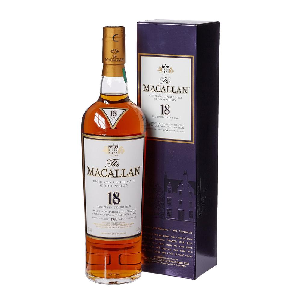 Macallan Sherry Oak 18 Yo