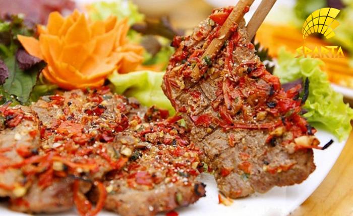 Thịt Dải Nướng Muối Ớt